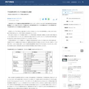 「THE世界大学ランキング 日本版2018」
