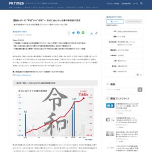 """【調査レポート】""""平成""""から""""令和""""へ、改元に合わせた企業の新発表が活況"""