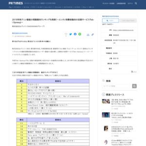 2019年秋アニメ番組の視聴意向ランキングを発表