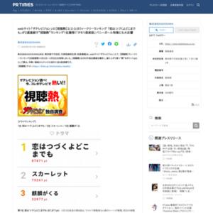 【視聴熱】ウィークリーランキング(対象期間=3月2日~3月8日)