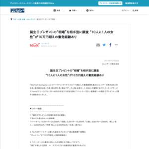 「パートナー(恋人・配偶者)への誕生日プレゼント」に関する調査