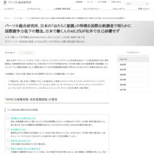 パーソル総合研究所、日本の「はたらく意識」の特徴を国際比較調査で明らかに