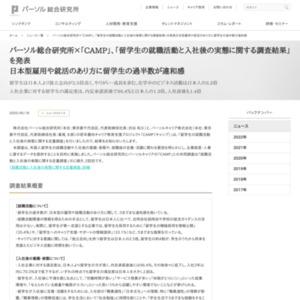 「留学生の就職活動と入社後の実態に関する調査結果」を発表