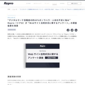 Webサイト活用状況に関するアンケート