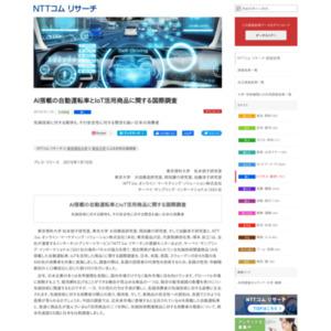 AI搭載の自動運転車とIoT活用商品に関する国際調査