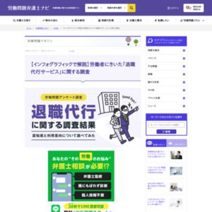 【インフォグラフィックで解説】労働者にきいた「退職代行サービス」に関する調査