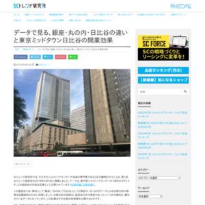 データで見る、銀座・丸の内・日比谷の違いと東京ミッドタウン日比谷の開業効果