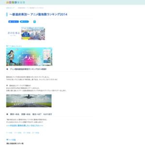 都道府県別 アニメ聖地数ランキング
