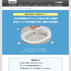 在宅時間増加に伴うトイレの悩みの変化を調査