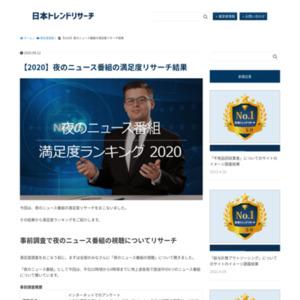 【2020】夜のニュース番組の満足度リサーチ結果