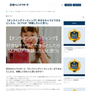 「オンライングリーティングに関するアンケート」調査
