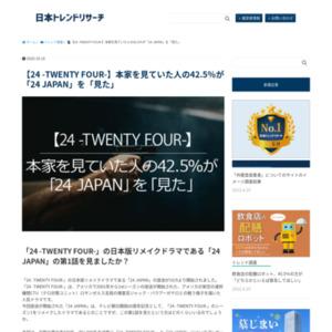 【24 -TWENTY FOUR-】本家を見ていた人の42.5%が「24 JAPAN」を「見た」