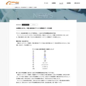 GW期間における、中国人観光客のアリペイ消費統計データを発表