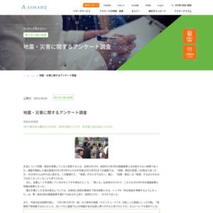 地震・災害に関するアンケート