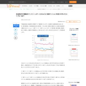 収益物件市場動向マンスリーレポート2016/12