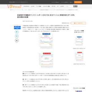 収益物件市場動向マンスリーレポート2017/04