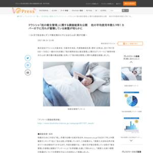 「枕の衛生管理」に関する調査 ドウシシャ