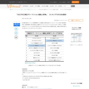 2017年江東区タワーマンション価格上昇率
