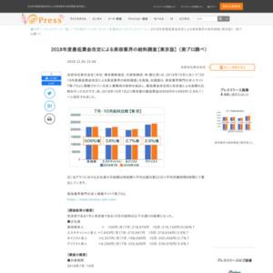 2018年度最低賃金改定による美容業界の給料調査【東京版】