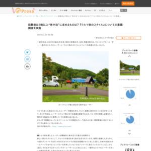 『クルマ旅のスタイル』についての意識調査日本
