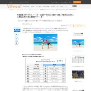 """平成最後のクリスマス""""男女ペア""""での海外旅行先人気ランキング"""
