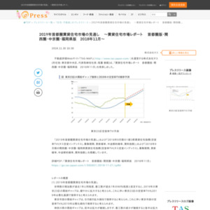 賃貸住宅市場レポート首都圏版・関西圏・中京圏・福岡県版2018年11月