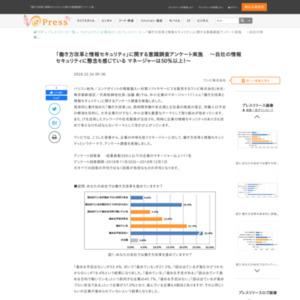「働き方改革と情報セキュリティ」に関する意識調査アンケート