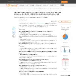 「海外旅行先で食べたくなる日本食」に関するアンケート