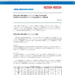 世界40の国と地域の検索エンジンシェアと推移【2014年6月版】