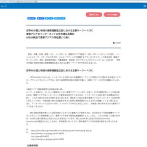 世界40の国と地域の検索連動型広告における主要キーワードCPC
