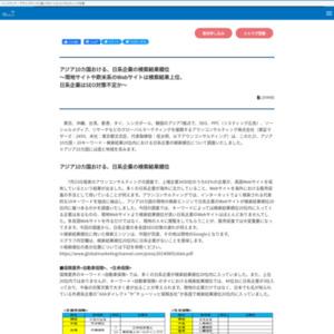 アジア10カ国おける、日系企業の検索結果順位