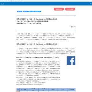 世界40カ国のフェイスブック(facebook)人口推移2014年9月