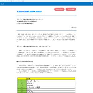 アジア11カ国の検索キーワードトレンド2014年9月9日~2014年9月15日