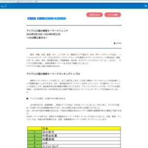 アジア11カ国の検索キーワードトレンド 2014年9月15日~2014年9月21日
