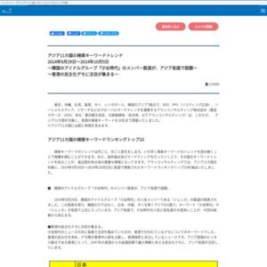 アジア11カ国の検索キーワードトレンド2014年9月29日~2014年10月5日