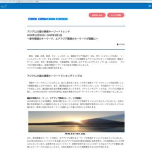 アジア11カ国の検索キーワードトレンド 2014年12月29日~2015年1月4日