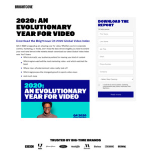 2019 Q3 ブライトコーブ GLOBAL VIDEO INDEX