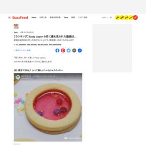 「Tasty Japan」 5月の月間再生ランキング