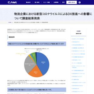物流企業における新型コロナウイルスによるDX推進への影響について調査結果発表