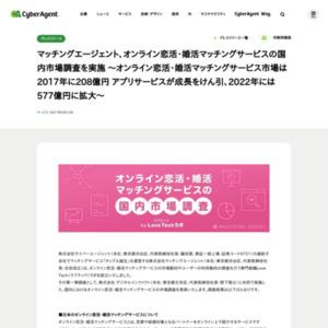 オンライン恋活・婚活マッチングサービスの国内市場調査