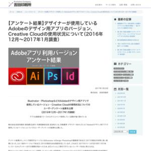 デザイナーが使用しているAdobeのデザイン用アプリのバージョン、Creative Cloudの使用状況について(2016年12月~2017年1月調査)