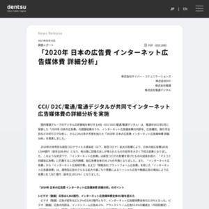 2020年 日本の広告費 インターネット広告媒体費 詳細分析
