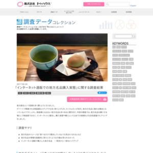 「インターネット通販での地方名品購入実態」に関する調査
