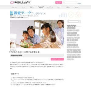 「子どもの手伝い」に関する調査