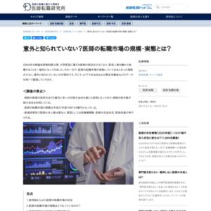 医師の転職市場の規模・実態に関する調査