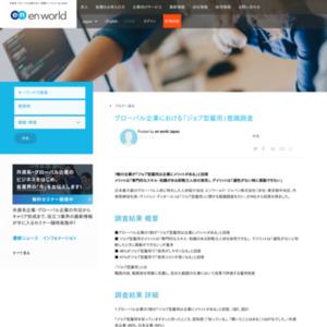 グローバル企業における「ジョブ型雇用」意識調査