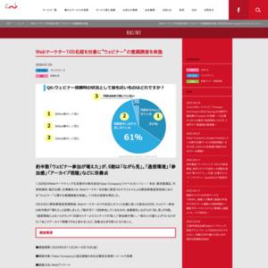 "Webマーケター100名超を対象に""ウェビナー""の意識調査を実施"