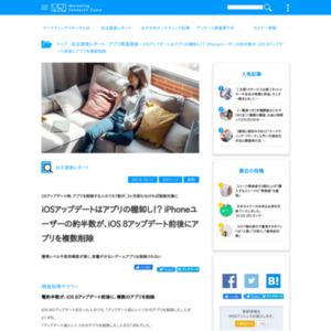 iOSアップデートとアプリ削除に関するアンケート