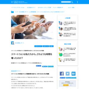 スマートフォンとライフスタイルの変化に関するアンケート