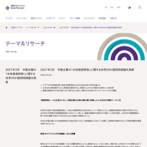 2021年3月 中堅企業の「女性経営幹部」に関する世界29か国同時調査を発表